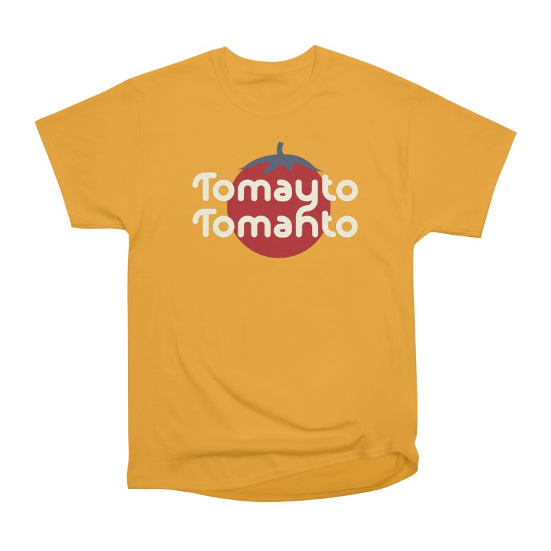 Tomayto Tomahto Men's Classic T-Shirt by Sidewise Clothing & Design