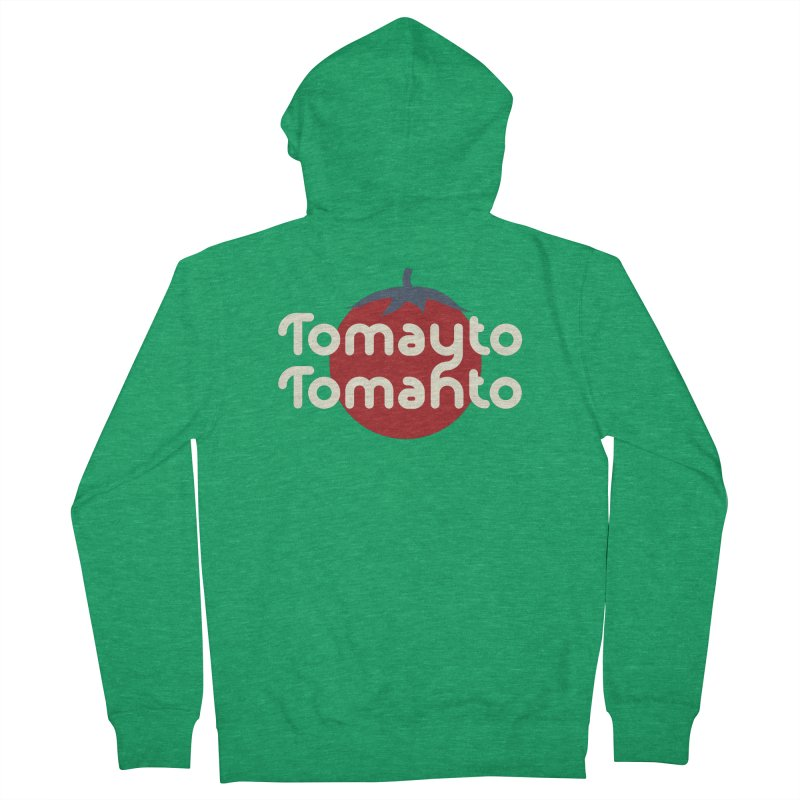 Tomayto Tomahto Men's Zip-Up Hoody by Sidewise Clothing & Design
