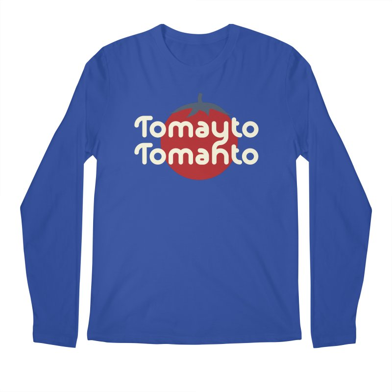 Tomayto Tomahto Men's Regular Longsleeve T-Shirt by Sidewise Clothing & Design