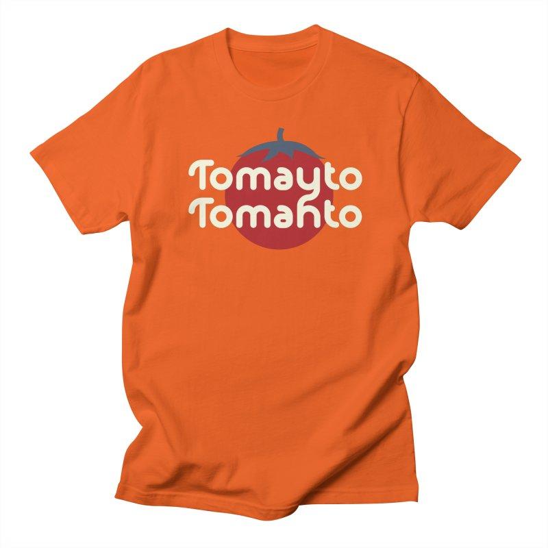 Tomayto Tomahto Men's Regular T-Shirt by Sidewise Clothing & Design