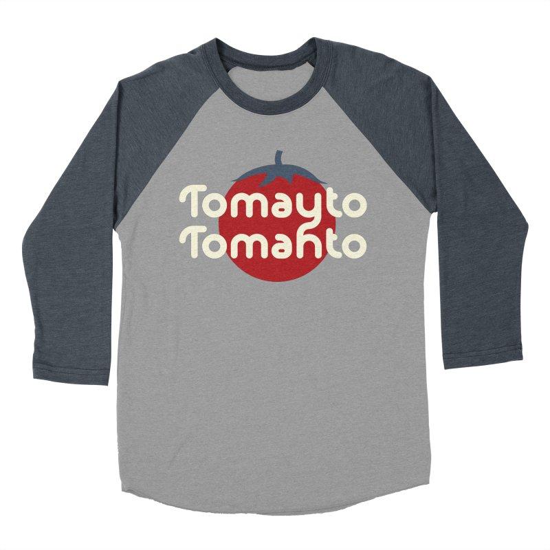 Tomayto Tomahto Women's Baseball Triblend Longsleeve T-Shirt by Sidewise Clothing & Design