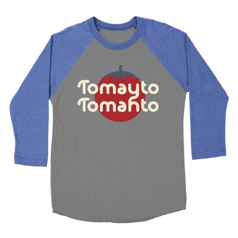 Tomayto Tomahto Men's Baseball Triblend Longsleeve T-Shirt by Sidewise Clothing & Design