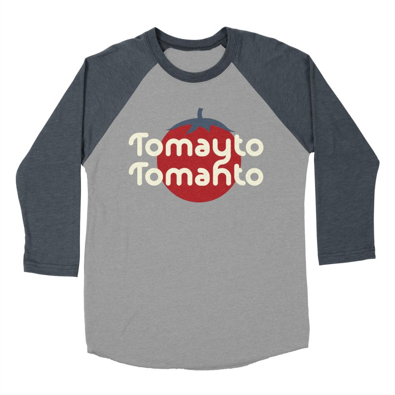 Tomayto Tomahto Men's Baseball Triblend T-Shirt by Sidewise Clothing & Design