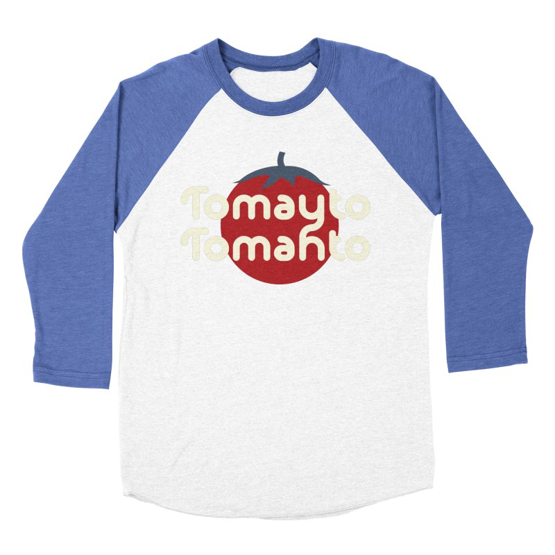 Tomayto Tomahto Men's Baseball Triblend Longsleeve T-Shirt by Sidewise Clothing & Design