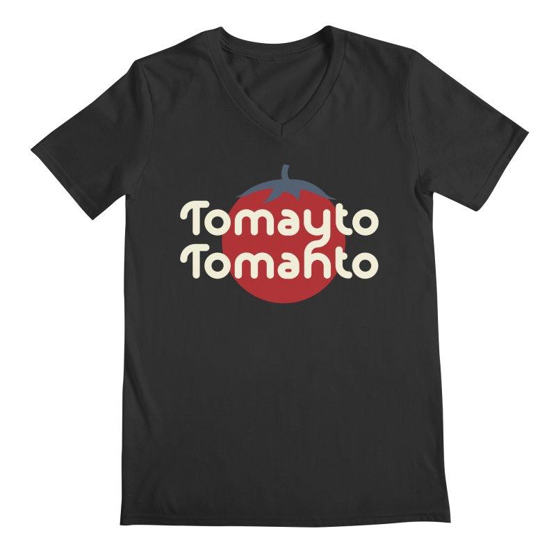 Tomayto Tomahto Men's Regular V-Neck by Sidewise Clothing & Design