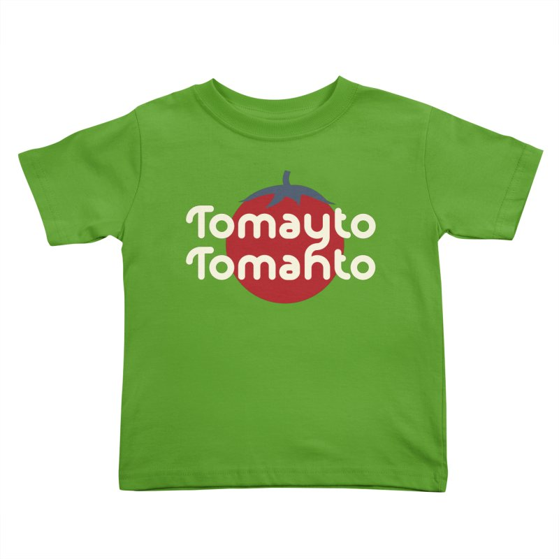 Tomayto Tomahto Kids Toddler T-Shirt by Sidewise Clothing & Design