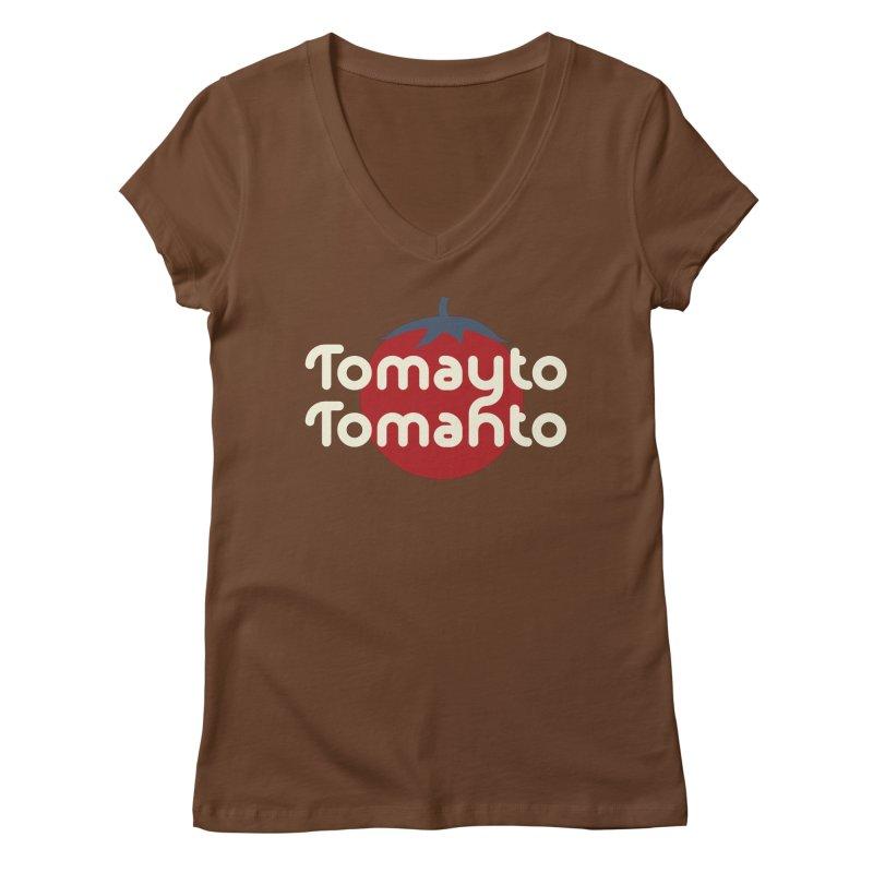 Tomayto Tomahto Women's V-Neck by Sidewise Clothing & Design