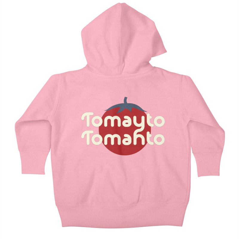 Tomayto Tomahto Kids Baby Zip-Up Hoody by Sidewise Clothing & Design
