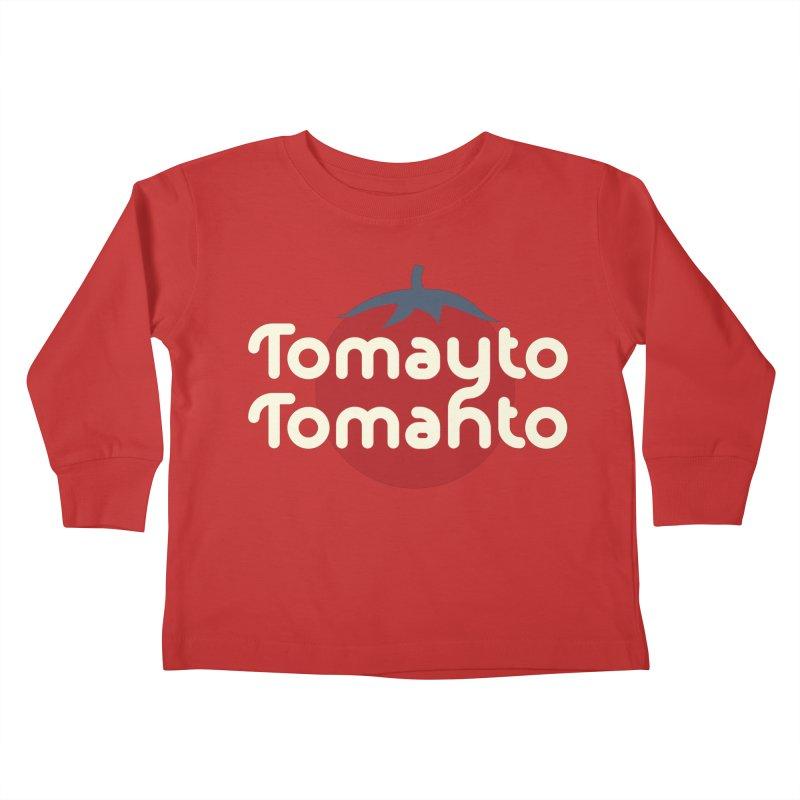 Tomayto Tomahto Kids Toddler Longsleeve T-Shirt by Sidewise Clothing & Design