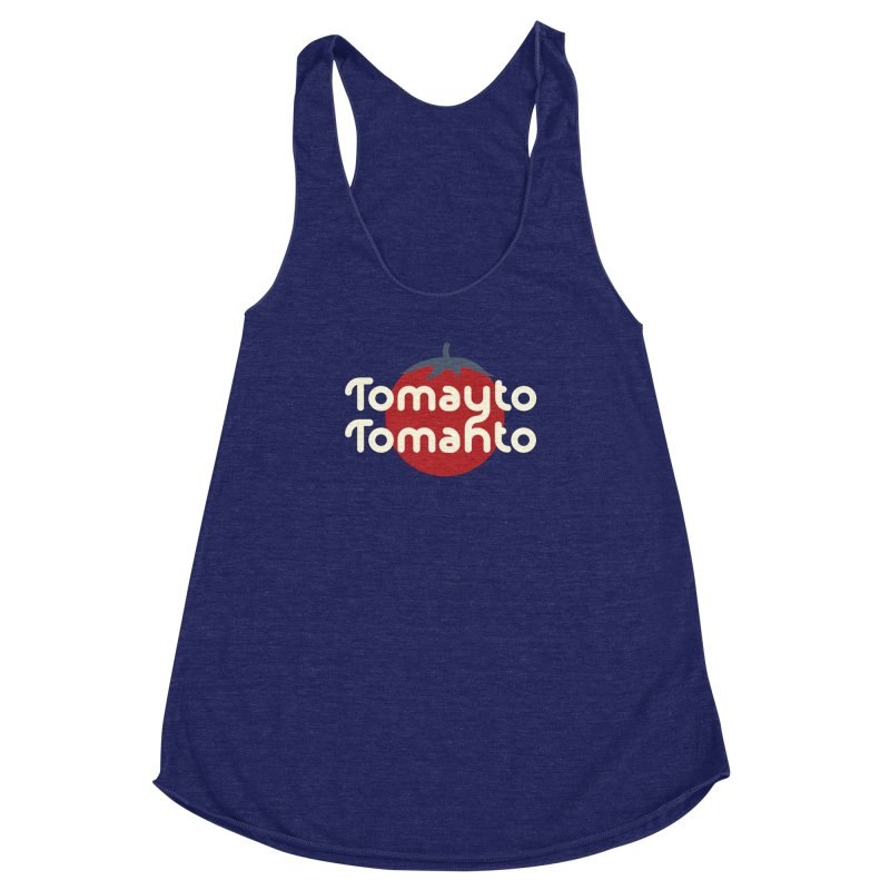 Tomayto Tomahto Women's Racerback Triblend Tank by Sidewise Clothing & Design