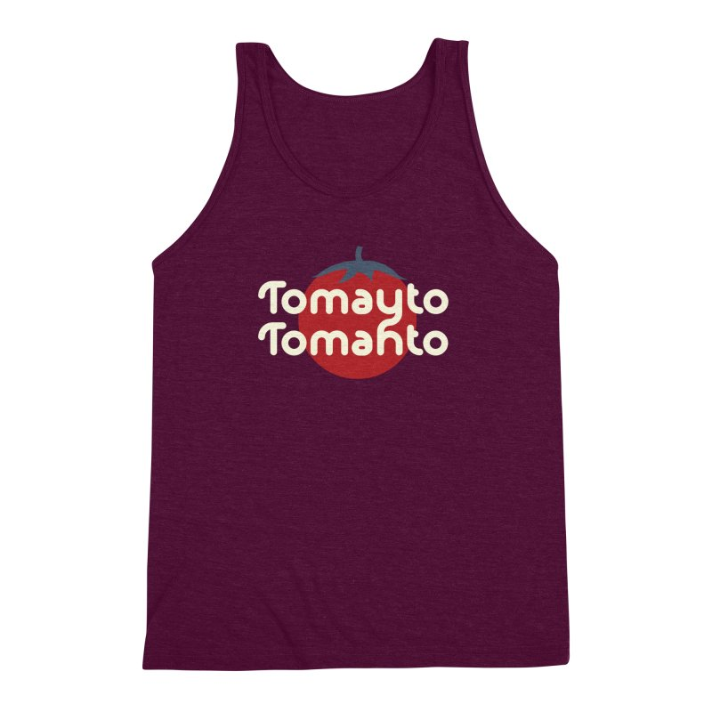 Tomayto Tomahto Men's Triblend Tank by Sidewise Clothing & Design