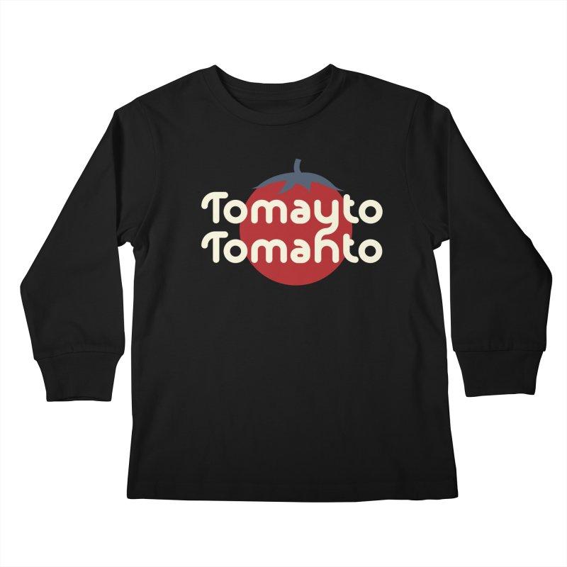 Tomayto Tomahto Kids Longsleeve T-Shirt by Sidewise Clothing & Design