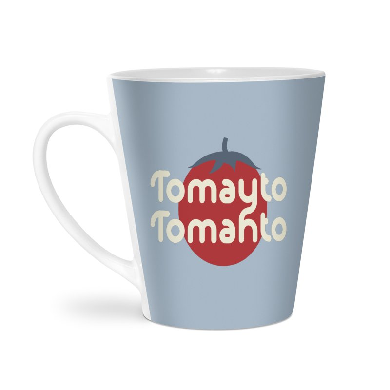 Tomayto Tomahto Accessories Latte Mug by Sidewise Clothing & Design