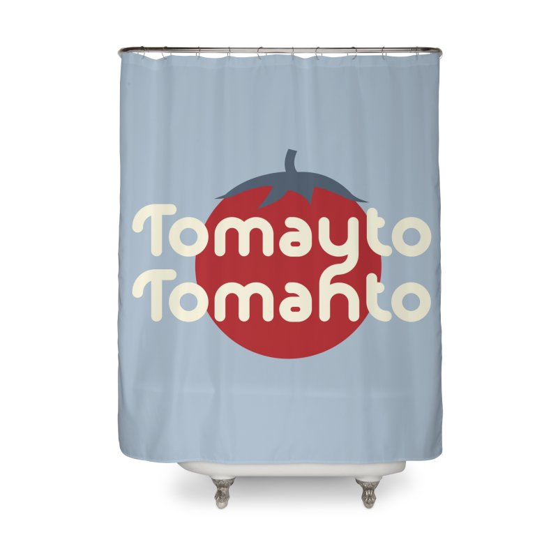 Tomayto Tomahto Home Shower Curtain by Sidewise Clothing & Design