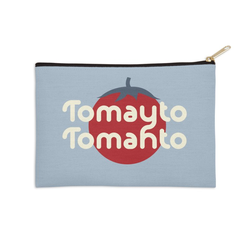 Tomayto Tomahto Accessories Zip Pouch by Sidewise Clothing & Design