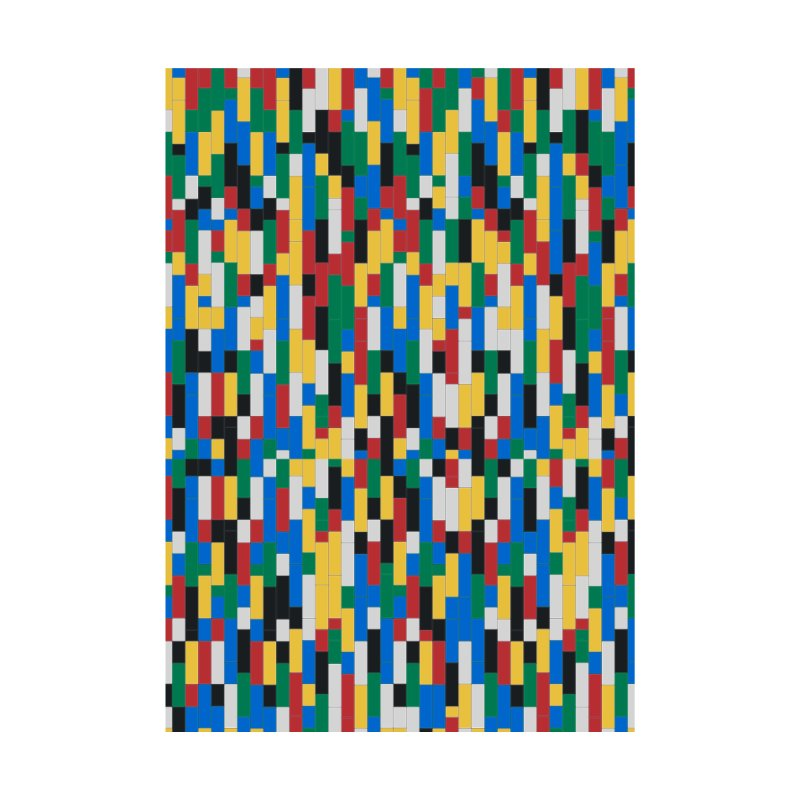 Colorful Building Block Pattern Accessories Zip Pouch by Sidewise Clothing & Design