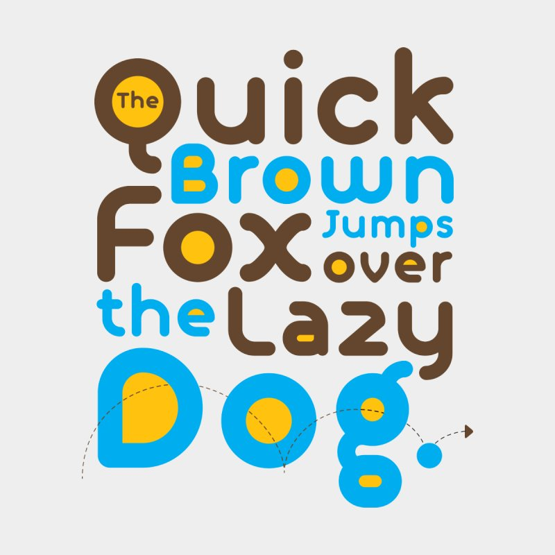The Quick Brown Fox Jumps over the Lazy Dog Home Blanket by Sidewise Clothing & Design