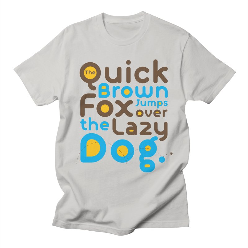 The Quick Brown Fox Jumps over the Lazy Dog Men's T-Shirt by Sidewise Clothing & Design