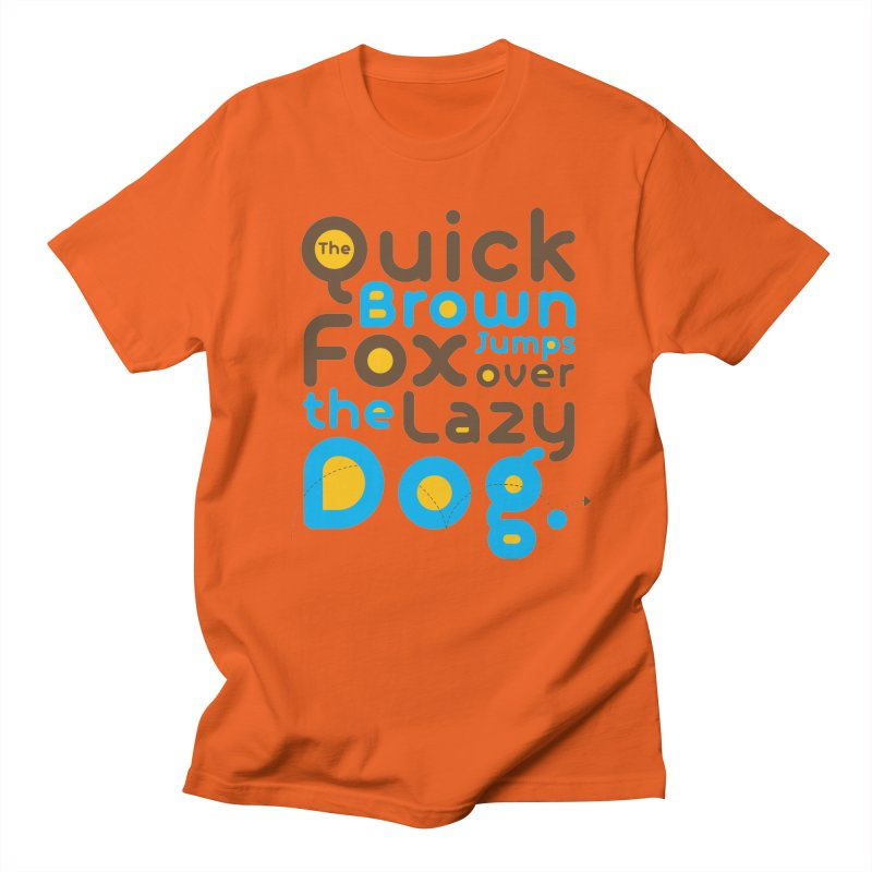 The Quick Brown Fox Jumps over the Lazy Dog Men's Lounge Pants by Sidewise Clothing & Design