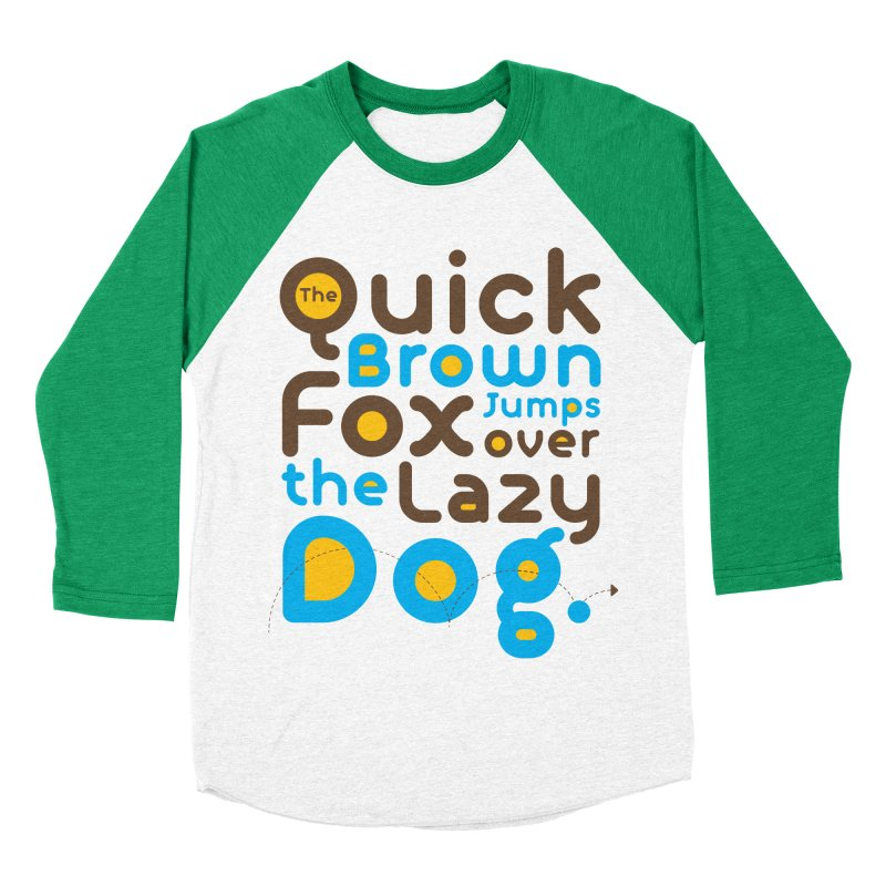 The Quick Brown Fox Jumps over the Lazy Dog Men's Baseball Triblend Longsleeve T-Shirt by Sidewise Clothing & Design