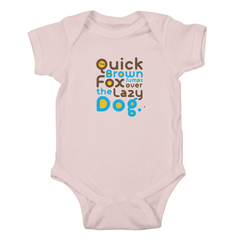 The Quick Brown Fox Jumps over the Lazy Dog Kids Baby Bodysuit by Sidewise Clothing & Design