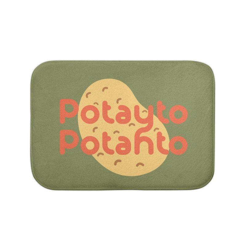 Potayto Potahto Home Bath Mat by Sidewise Clothing & Design