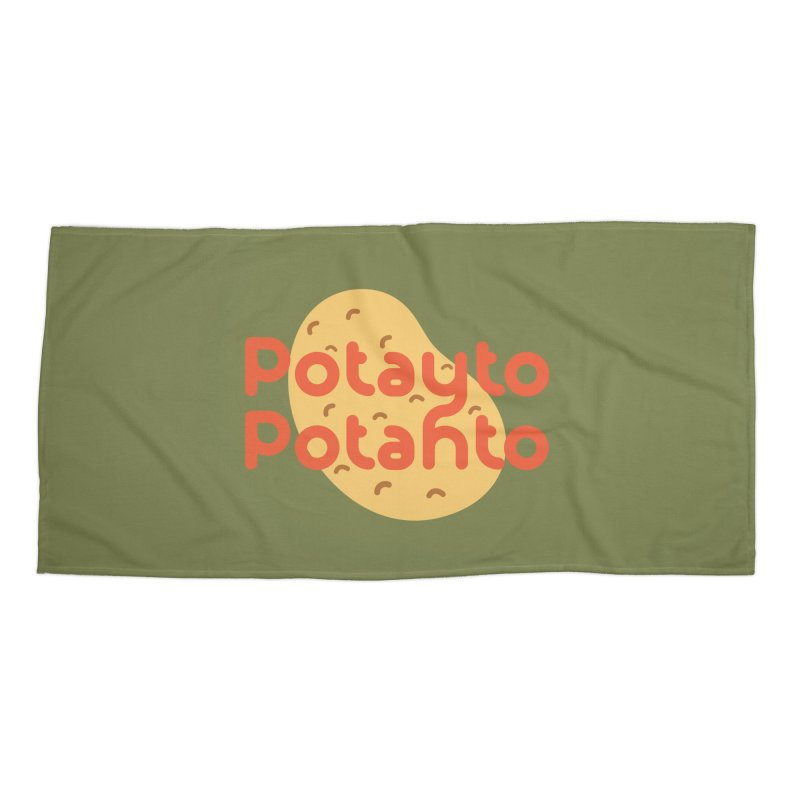 Potayto Potahto Accessories Beach Towel by Sidewise Clothing & Design