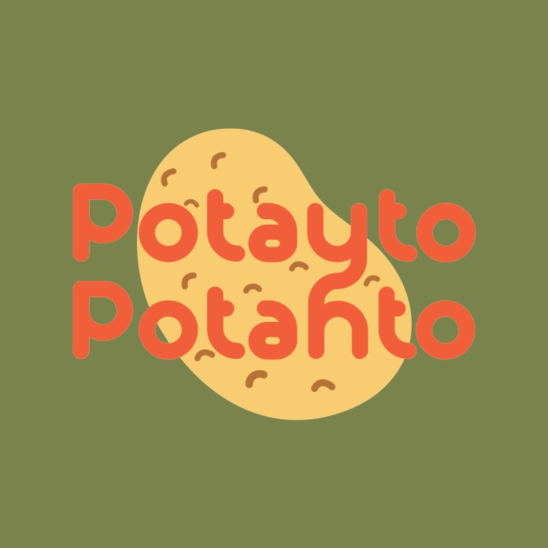 Potayto Potahto Women's V-Neck by Sidewise Clothing & Design