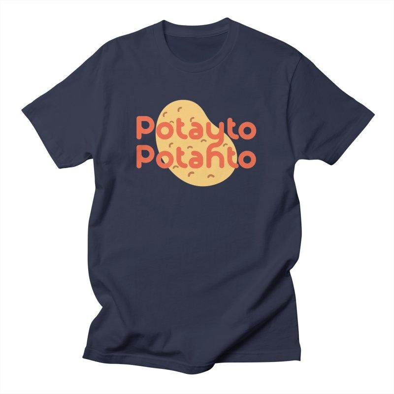 Potayto Potahto Men's T-Shirt by Sidewise Clothing & Design