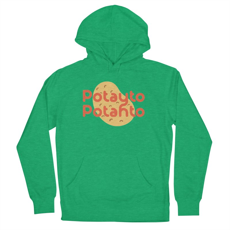 Potayto Potahto Men's French Terry Pullover Hoody by Sidewise Clothing & Design