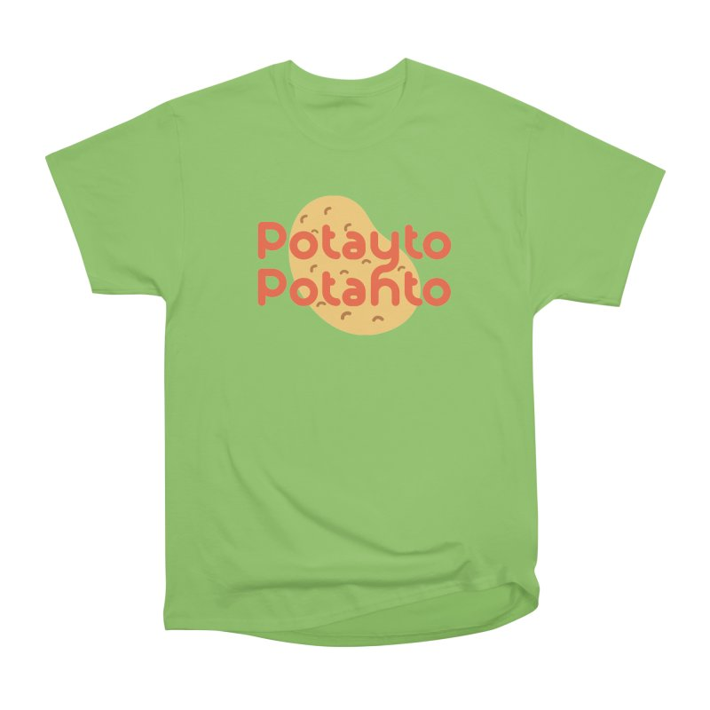 Potayto Potahto Men's Heavyweight T-Shirt by Sidewise Clothing & Design