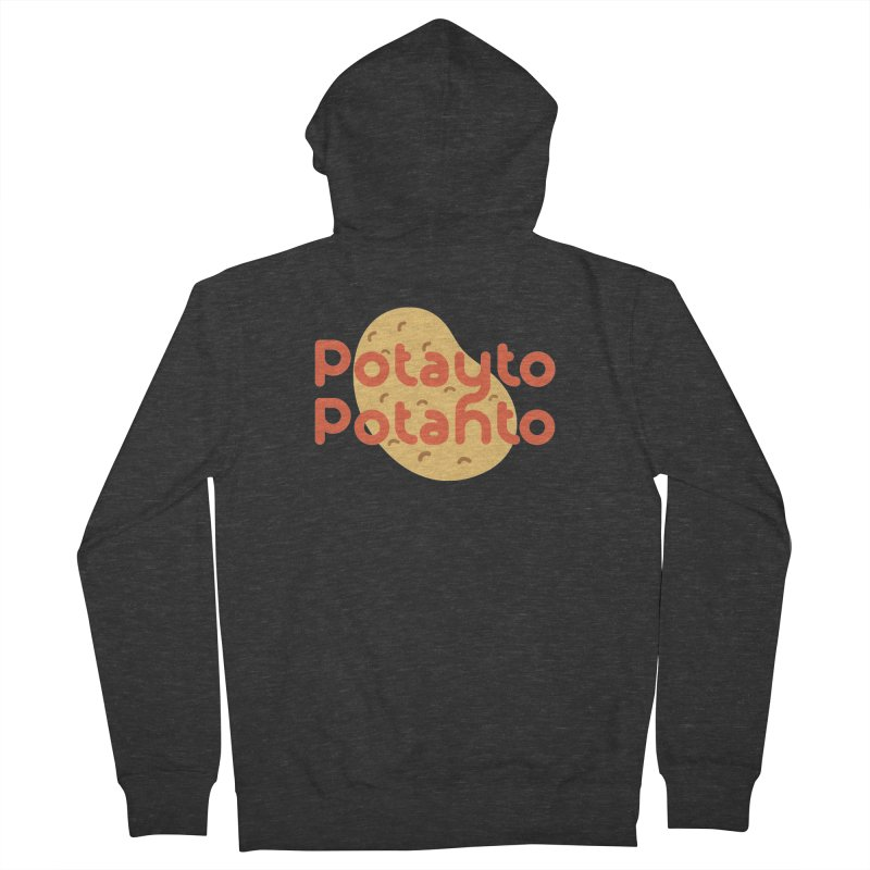 Potayto Potahto Women's French Terry Zip-Up Hoody by Sidewise Clothing & Design