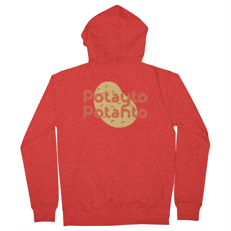 Potayto Potahto Women's Zip-Up Hoody by Sidewise Clothing & Design