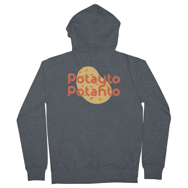 Potayto Potahto Men's French Terry Zip-Up Hoody by Sidewise Clothing & Design