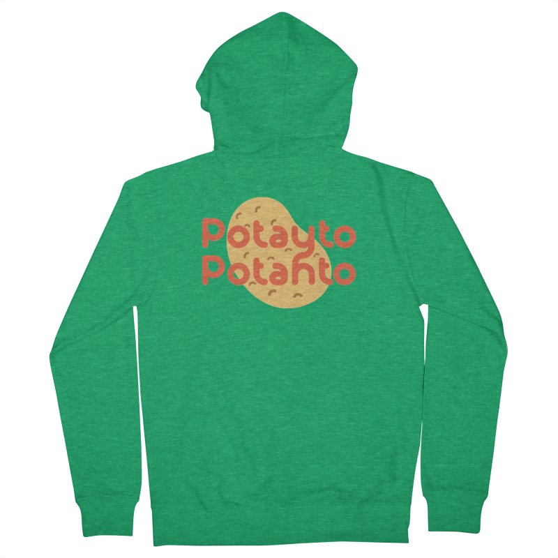 Potayto Potahto Men's Zip-Up Hoody by Sidewise Clothing & Design