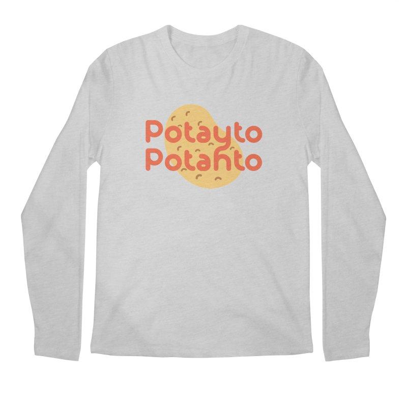 Potayto Potahto Men's Regular Longsleeve T-Shirt by Sidewise Clothing & Design