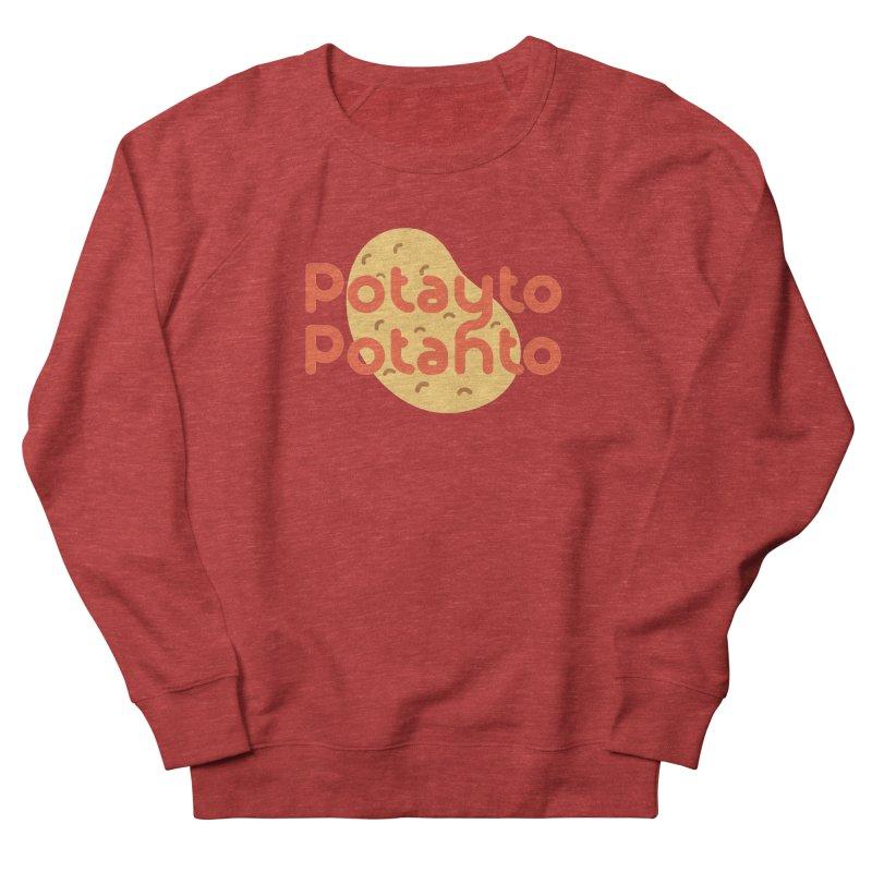 Potayto Potahto Men's French Terry Sweatshirt by Sidewise Clothing & Design