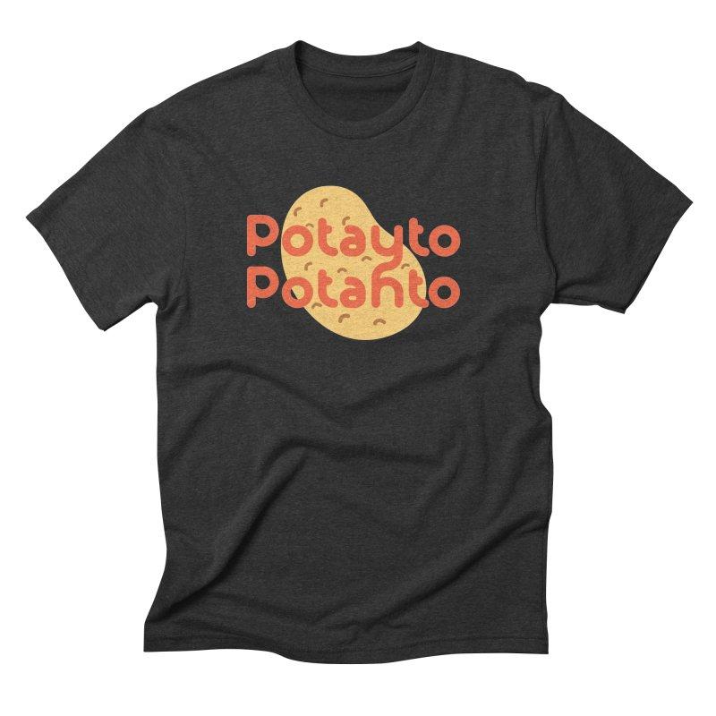Potayto Potahto Men's Triblend T-Shirt by Sidewise Clothing & Design