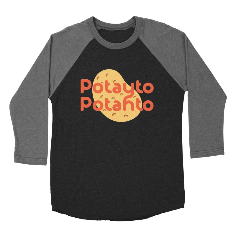 Potayto Potahto Women's Baseball Triblend Longsleeve T-Shirt by Sidewise Clothing & Design