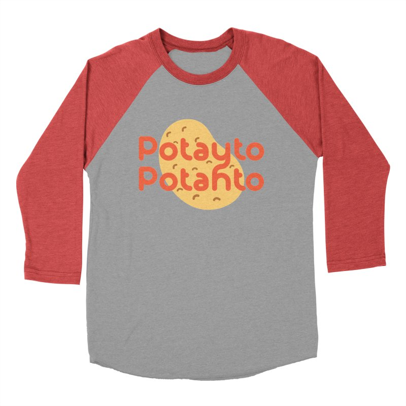 Potayto Potahto Men's Baseball Triblend Longsleeve T-Shirt by Sidewise Clothing & Design