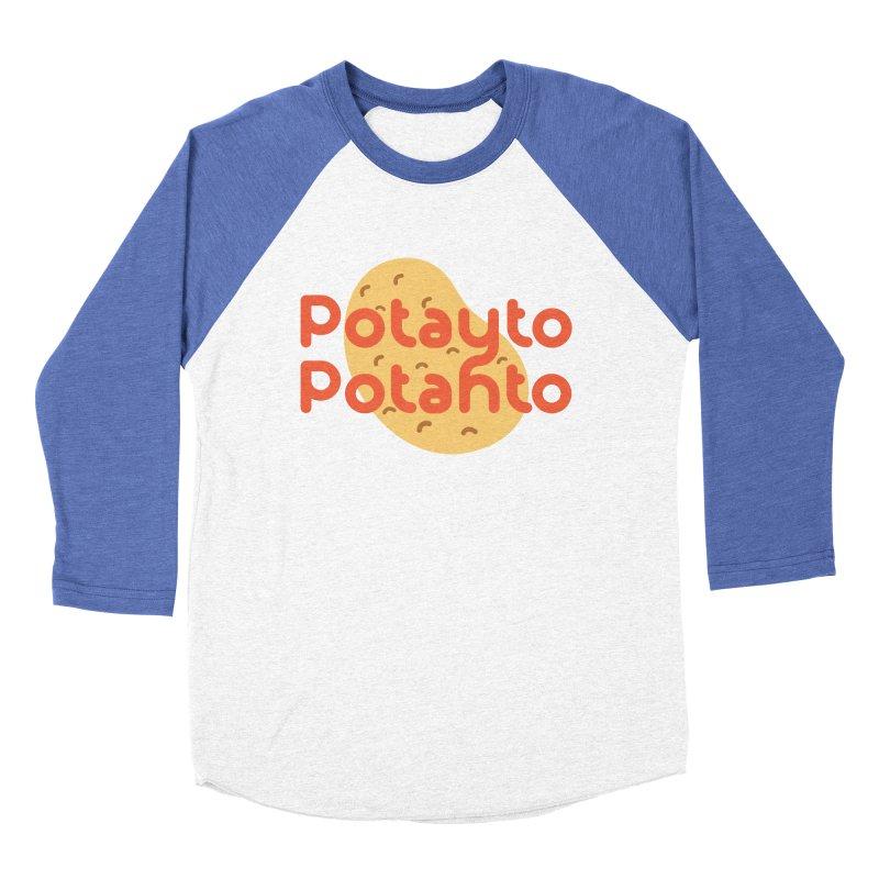 Potayto Potahto Men's Baseball Triblend Longsleeve T-Shirt by Sidewise Clothing & Design