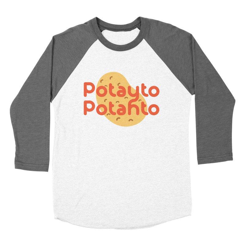 Potayto Potahto Men's Baseball Triblend T-Shirt by Sidewise Clothing & Design