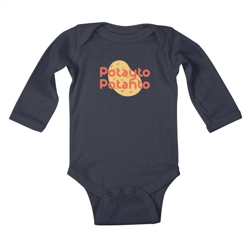 Potayto Potahto Kids Baby Longsleeve Bodysuit by Sidewise Clothing & Design