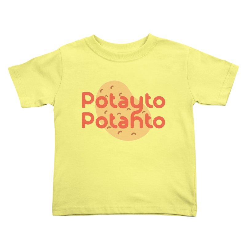 Potayto Potahto Kids Toddler T-Shirt by Sidewise Clothing & Design