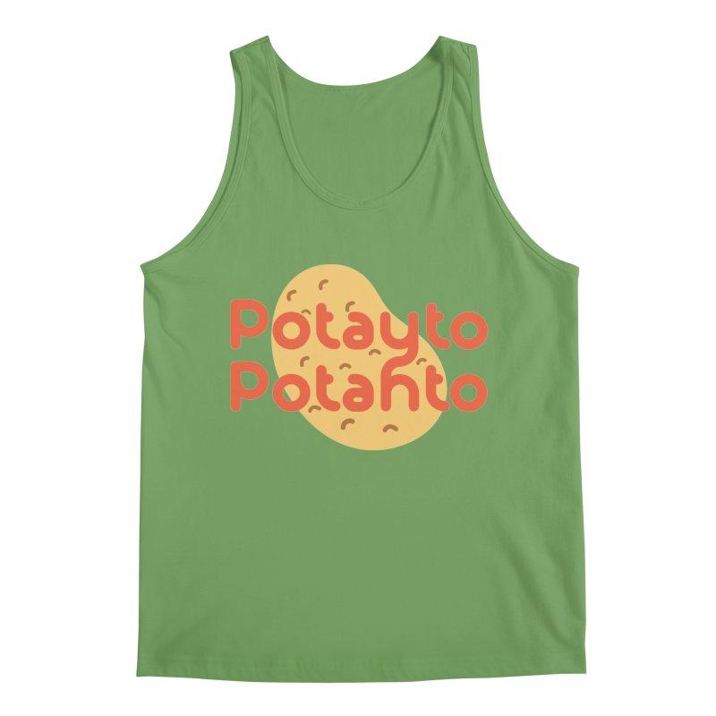 Potayto Potahto Men's Tank by Sidewise Clothing & Design