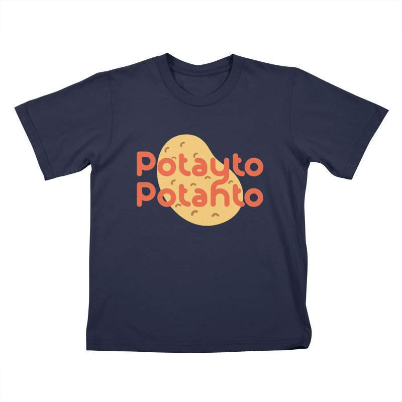Potayto Potahto Kids T-Shirt by Sidewise Clothing & Design