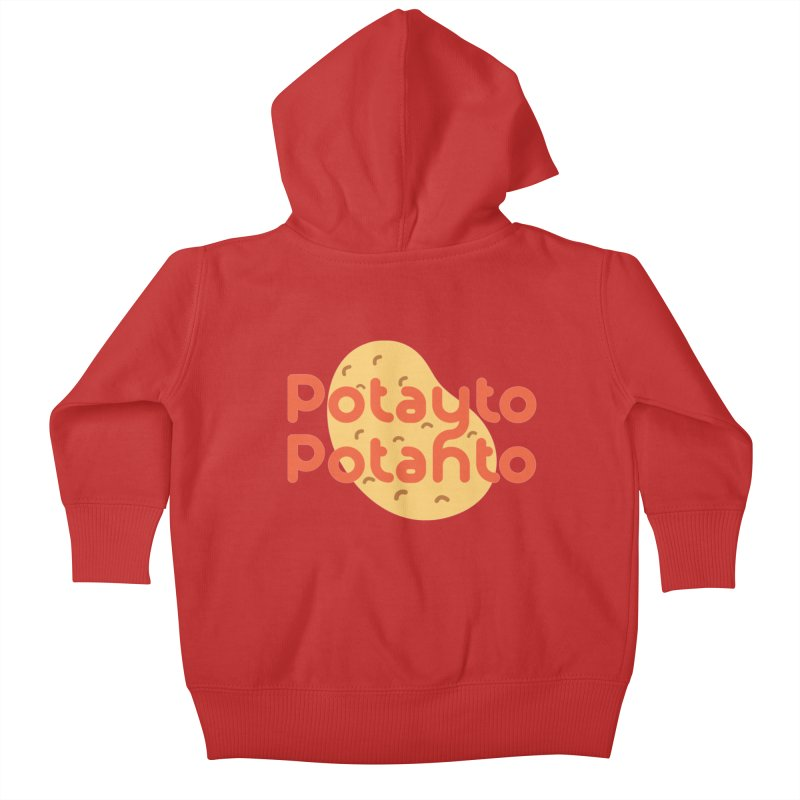 Potayto Potahto Kids Baby Zip-Up Hoody by Sidewise Clothing & Design