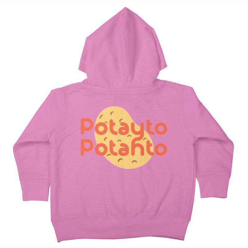 Potayto Potahto Kids Toddler Zip-Up Hoody by Sidewise Clothing & Design