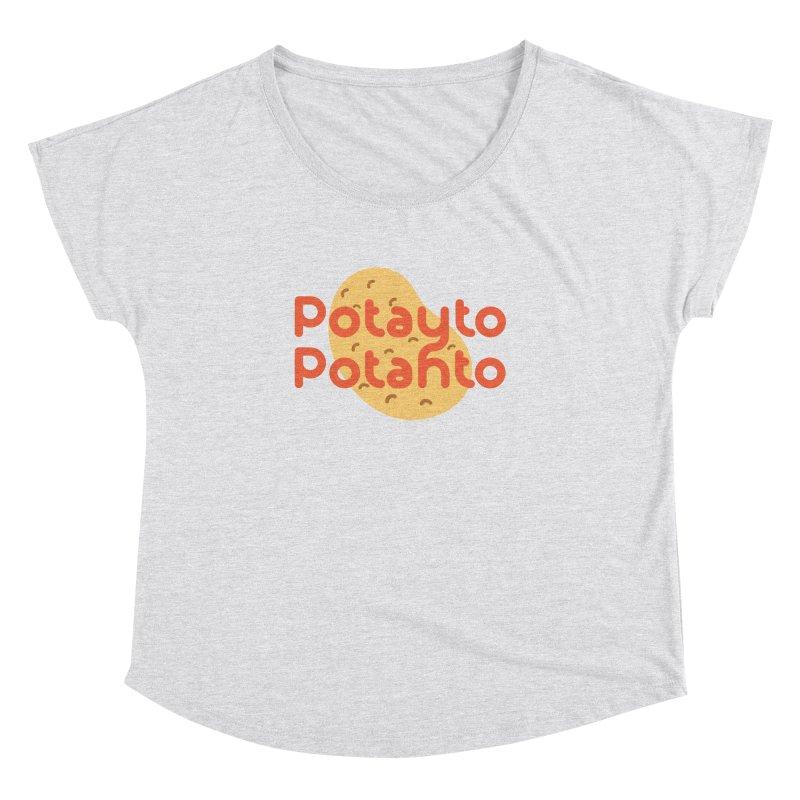 Potayto Potahto Women's Dolman Scoop Neck by Sidewise Clothing & Design