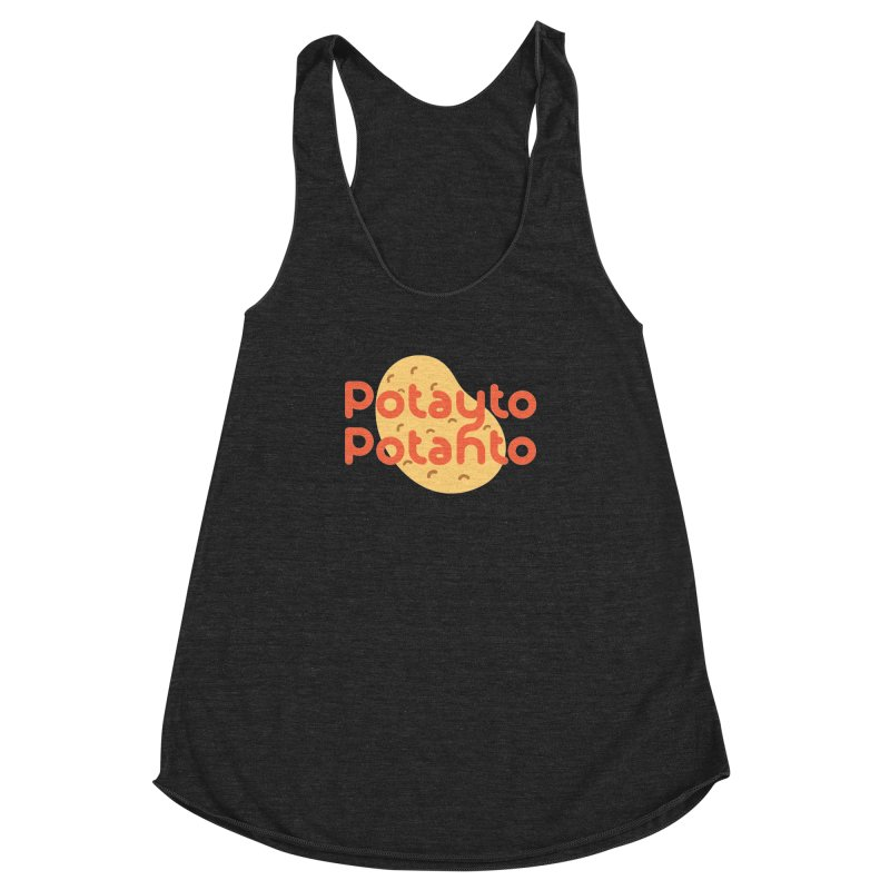 Potayto Potahto Women's Racerback Triblend Tank by Sidewise Clothing & Design